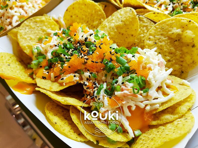 kouki nacho bowl surimi latino asiatique
