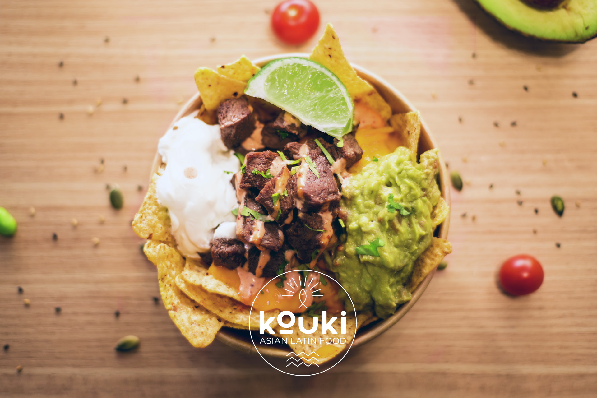 kouki nachos bowl boeuf latino asiatique