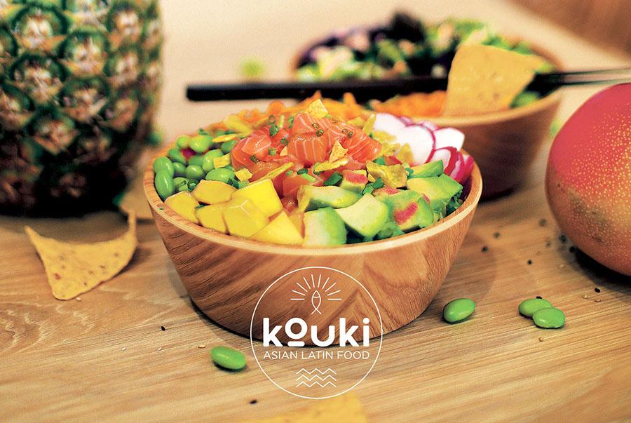 Kouki restaurant Asian Latin Food poke bowl